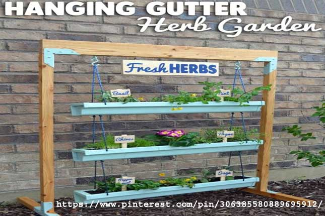 Hanging Gutter Planter and Stand